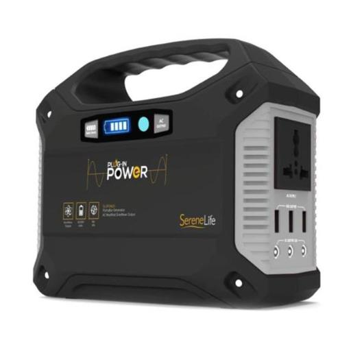 SereneLife SLSPGN20 Portable Power Generator - Rechargeable Battery Pack Power Supply, Solar Panel Compatible - 40,800mAh