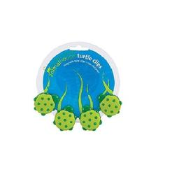 Boston Warehouse 94212 Turtle Magnetic Clip 4 Count, Green & Yellow