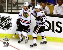 Jonathan Toews & Patrick Kane Game Six of the 2013 NHL Stanley Cup Finals Photo Print PFSAASF09801