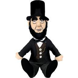 Abraham Lincoln Little Thinker Plush Doll President Novelty USA Funny Gift