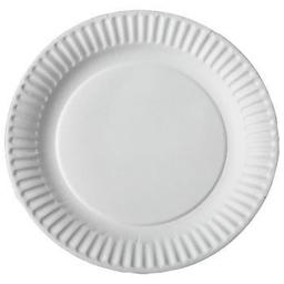 Aspen 12100 100 Count Uncoated White Paper Plate, 9 in., Pack of 12