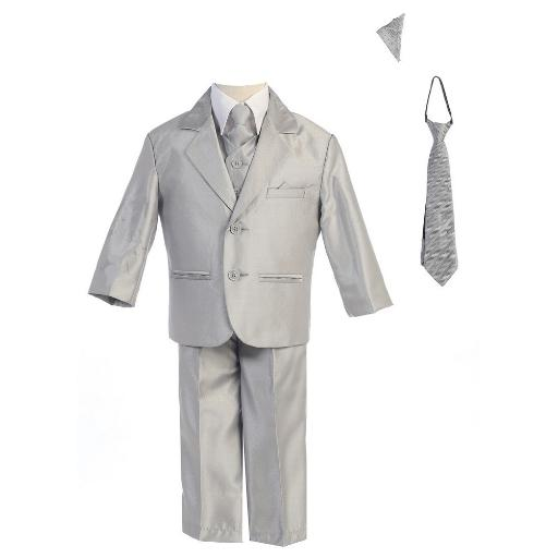 47d9f9eb5 Lito Baby Boys Silver Two-button Metallic Special Occasion Suit 6-24M. by  Lito Sold by Sophias Style Boutique