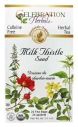 Celebration Herbals - Organic Caffeine Free Milk Thistle Seed Herbal Tea - 24 Tea Bags