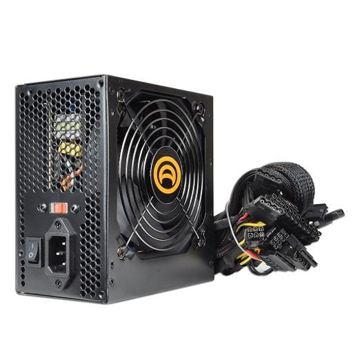 A-Power AK 680W 20+4-pin SATA & PCIe ATX Computer Power Supply Metallic Black