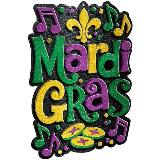 Amscan 190393 21 x 15 in. Mardi Gras Plastic 3D Decoration - Pack of 2