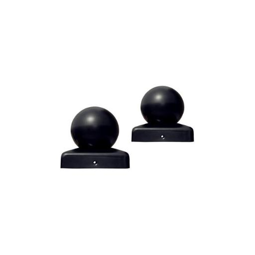 1.7 x 1.7 Gate Post Cap for Driveway Gates Iron Gate, Black - Lot of 2