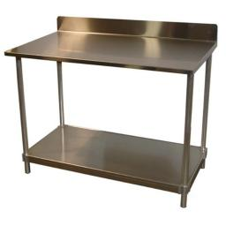Prairie View 16gaSTBS303448 16 Gauge Stainless Top Table with Backsplash, 34 to 35.5 x 30 x 48 in.