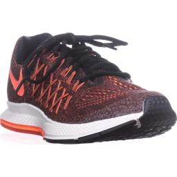 Nike Air Zoom Pegasus Running Shoes, Black/Hyper Orange/Bright Crimson Air Zoom Pegasus