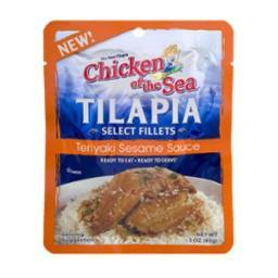 Chicken of the Sea Tilapia Select Fillets Teriyaki Sesame Sauce