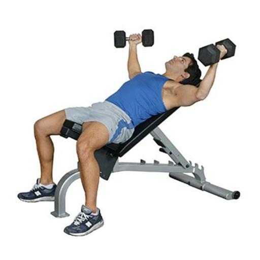 Fabrication Enterprises 10-7130 Flat-Incline & Decline Bench