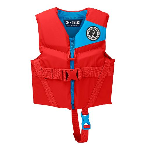 Mustang Rev Child Foam Vest – 30-50Lbs – Imperial Red