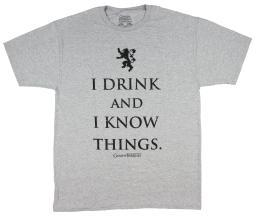 Game of Thrones Men's I Drink and I Know Things T-Shirt