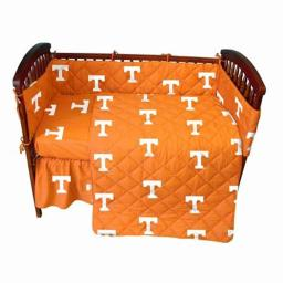 College Covers TENCSFSPR 72 x 30 in. Tennessee Volunteers Baby Crib Fitted Sheet Pair
