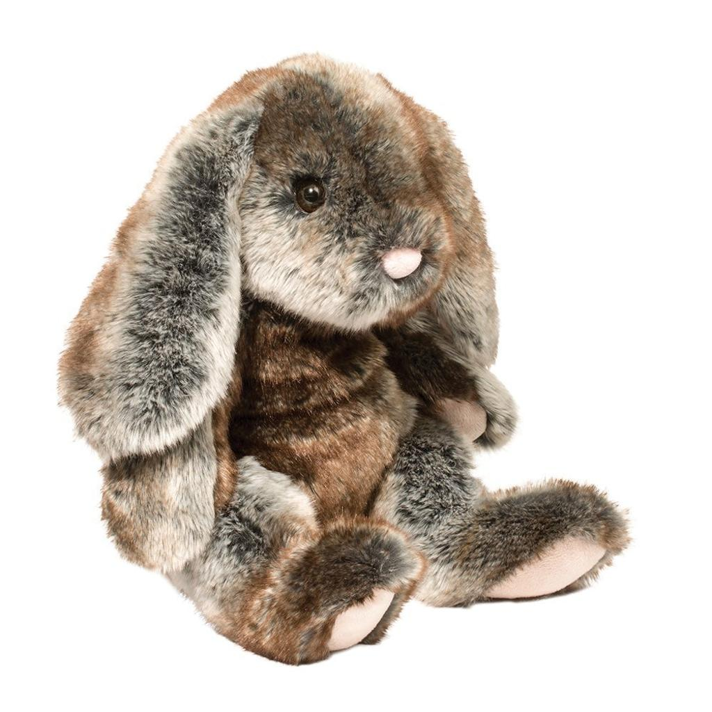 "Douglas Cuddle Toys Lux Gray Bunny Medium, 13"""