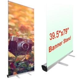 "Yescom Portable Trade Show Retractable Roll Up Aluminum 40""x79"" Banner Stand with Carrying Bag"