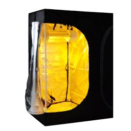 LAGarden 2-in-1 100% Reflective Mylar Hydroponics Indoor Grow Tent Planting Hut Propagation and Flower Sections