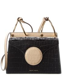 Danse Lente Mini Phoebe Croc-Embossed Leather Crossbody