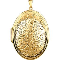 Stuller 28933-1001-P Yellow Gold Plated Sterling Silver Locket 28933:1001:P