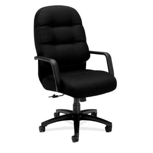 Executive High-Back Office Chair with Arms, Black