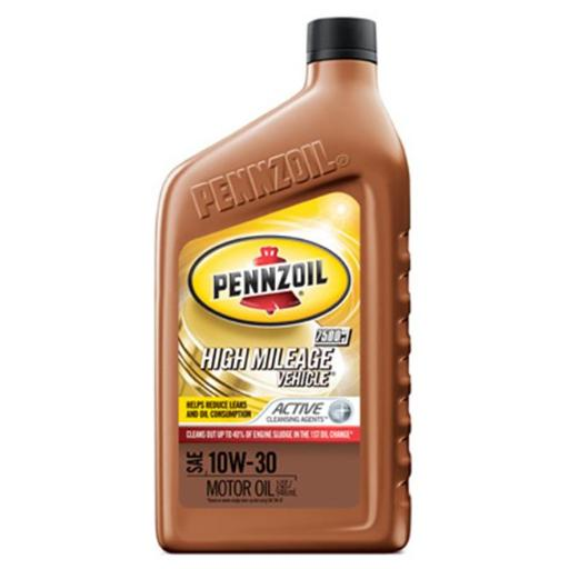 Pennzoil 550022838 5W30 High Mileage Vehicle Motor Oil, Pack of 6