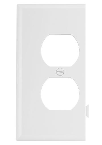 Cooper Wiring Ste8w 1-gang Duplex Receptacle Sectional Mid Size Wall Plate, White
