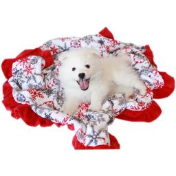 Mirage Pet 500-154 RSFIB Luxurious Plush Itty Bitty Baby Blanket Red Snowflake