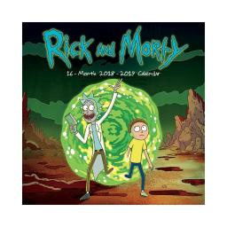 Rick and Morty 16 Month 2019 Wall Calendar Sanchez Jerry Cartoon Network Gift