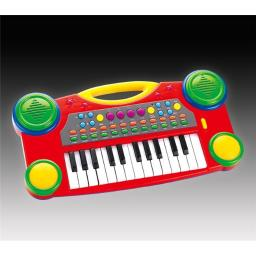 AZ IMPORT & TRADING PS061 Red 16'' Electronic Music Piano Keyboard for Kids PS061 Red