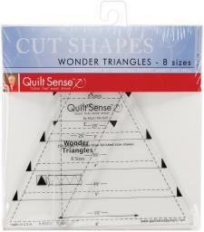 Quilt Sense Wonder Triangles Rulers 8 Sizes