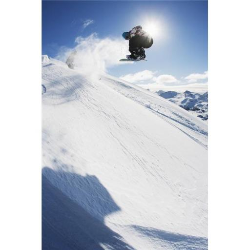 Posterazzi DPI12252822LARGE Professional Snowboarder Making A Jump in Fresh Snow Near Ushuaia Patagonia Argentina Poster Print - 24 x 38 in. - Large