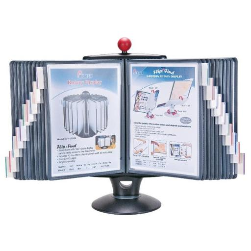 Aidata USA IFS001L Info Station Reference Organizer with White Board & 20 display panels, display up to 40 pages of reference sheets.