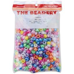 Pony Beads 6mmX9mm 900/Pkg Pearl Multicolor