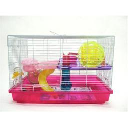YML H1812PK 12 in. Clear Plastic Hamster-Mice Cage in Pink