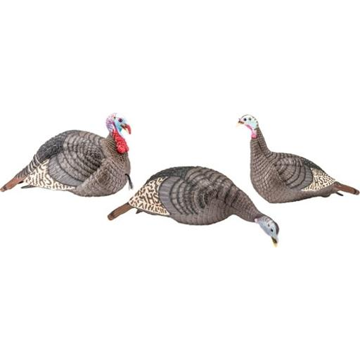 Hunters specialties 100006 hs strut turkey decoy flock strut-lite hen/jake/feeder hen