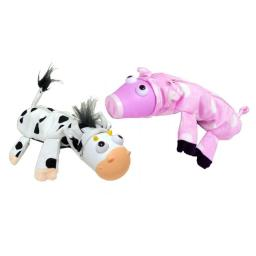 Inkology Inc 404-2 Bug Eye Farm Pouch - pig & cow - Pack of 6