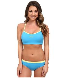 Zoot Sports Women's Interval Swim Set Maliblue/Honeydew Swimsuit Set SM