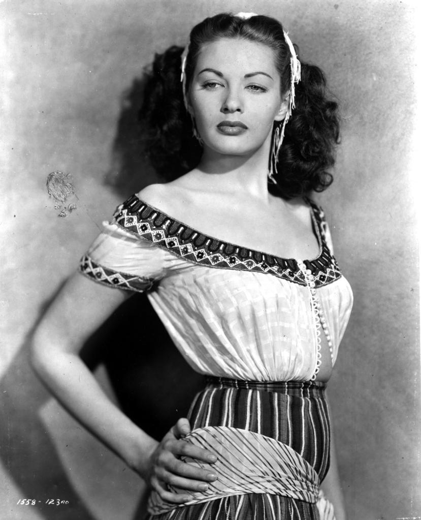 A portrait of Yvonne de Carlo Photo Print