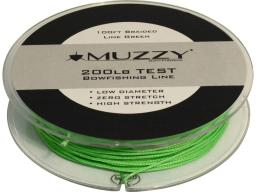 Muzzy 1078 muzzy lime green 200 pound test braided bowfishing line 100 ft spool