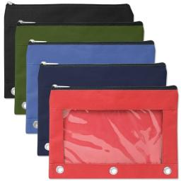 3 Ring Binder Window Pencil Case - 5 Colors