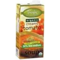Pacific Natural Foods 27170 Pacific Natural Low Sodium Creamy Tomato Soup - 12x32 Oz