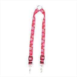 Yellow Dog Design RS109 Red Snowflakes Coupler Lead - Medium