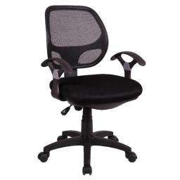 ACD OE1104Black Mesh Mid-Back Task Chair - Black