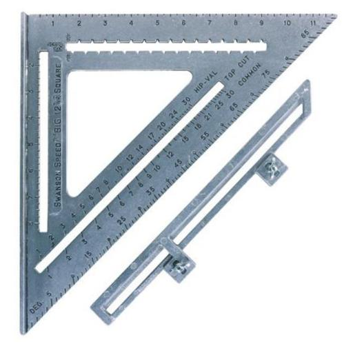 Swanson Tool 12in. The Big 12 Speed Square With Layout Bar S0107