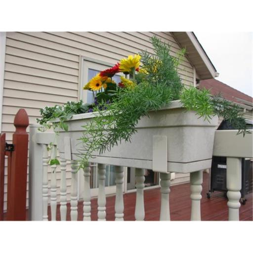 Float Storage FB13SET-T 1.25 to 1.625 in. Multi Pack Flower Box Holders Fits Fence, Tan & Beige