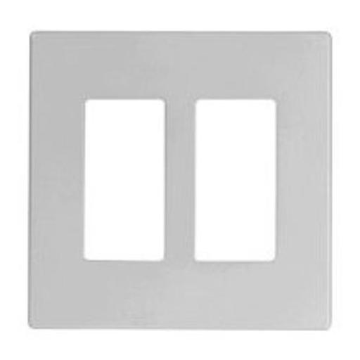 Cooper Wiring 9522ws Aspire Screwless 2 Gang Wallplate, White Satin