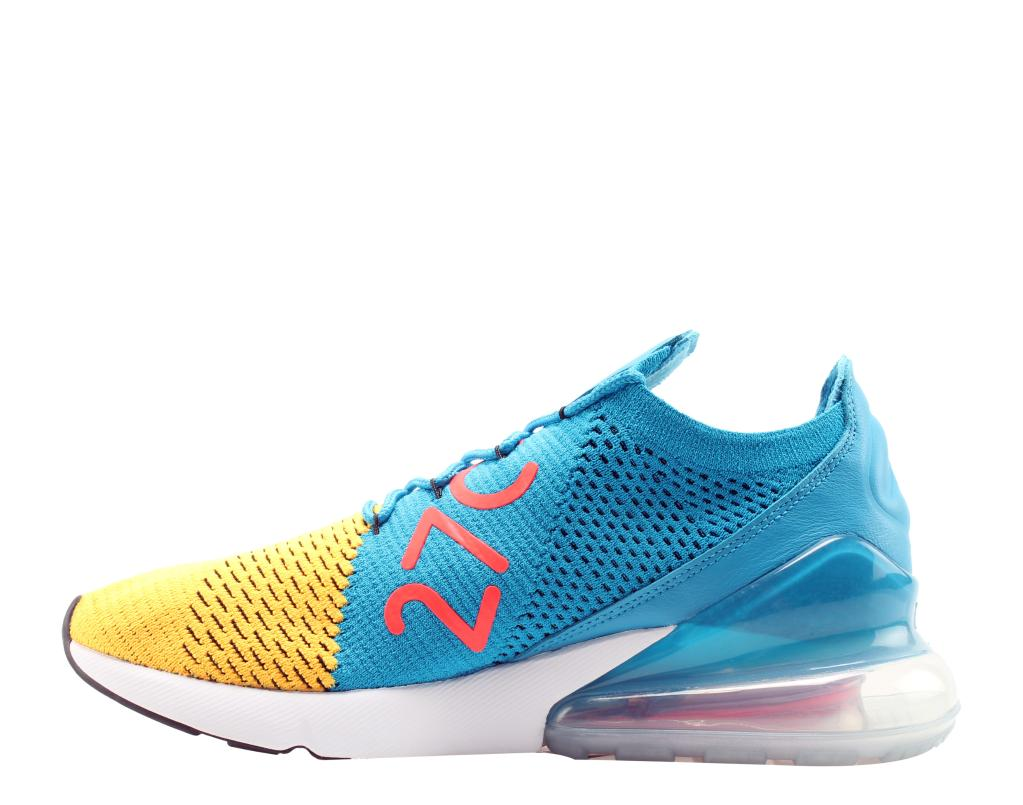 0f660a8205f20 Nike Nike Air Max 270 Flyknit Laser Org Blk-Orbit Men s Lifestyle Shoes  AO1023-800