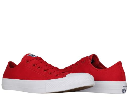493f0ad9d27a Converse Converse Chuck Taylor All Star II Low Top Red White Men s Shoes  150151C