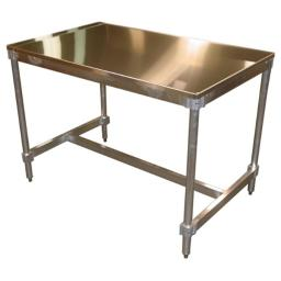 Prairie View AIFT303496-ST Stainless Top Aluminum I-Frame Table, 34 to 35.5 x 30 x 96 in.