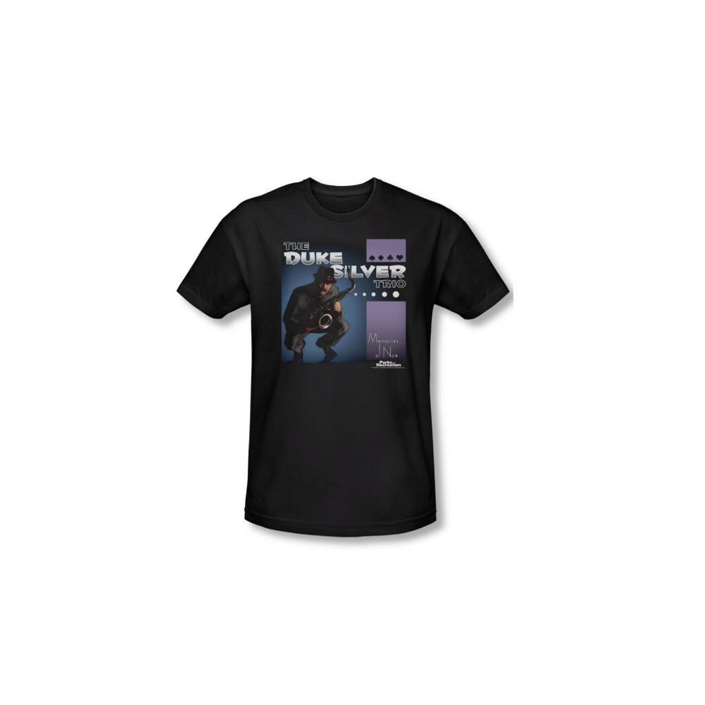 cf0755d01d06 Duke Silver Parks and Recreation T-Shirt NBC Rec Ron Swanson Jazz Adult Mens