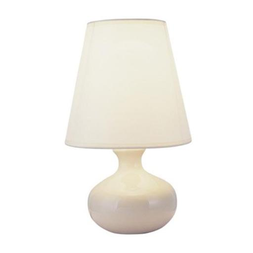 12 in. Ceramic Table Lamp - Ivory with Empire Lamp Shade